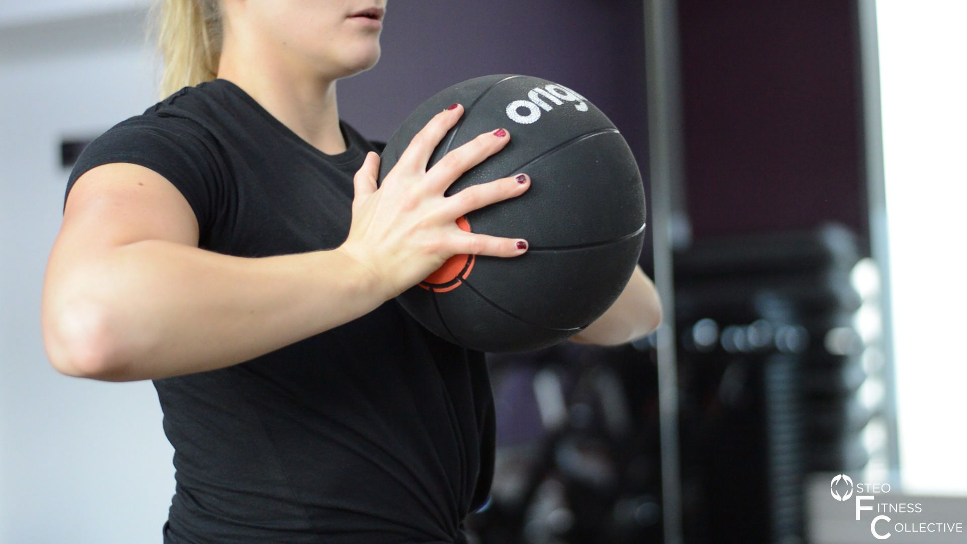 Medicine ball workout, chest press
