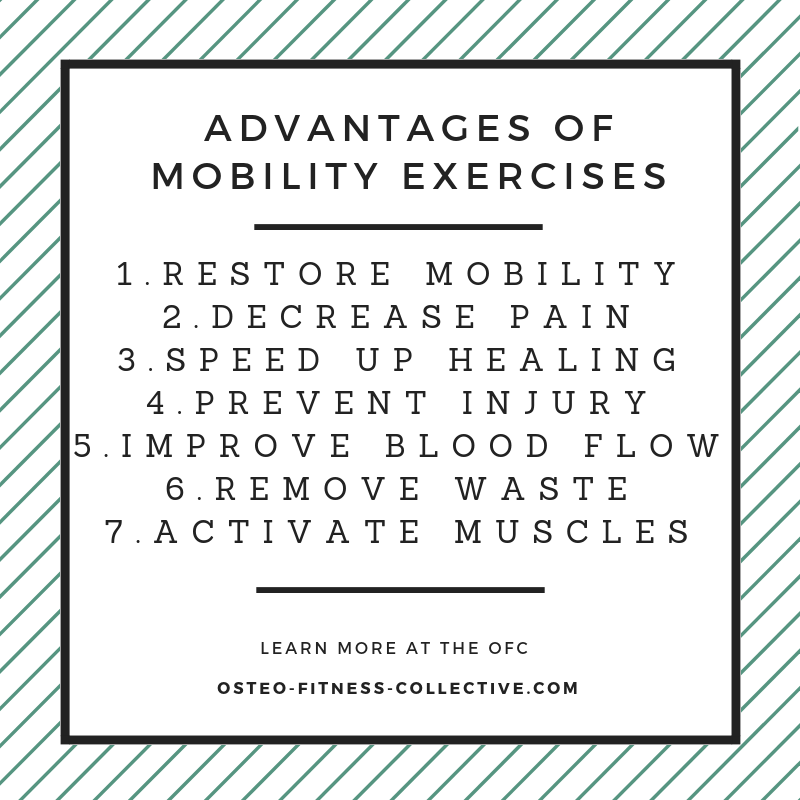Advantages of ankle mobility exercises infographic